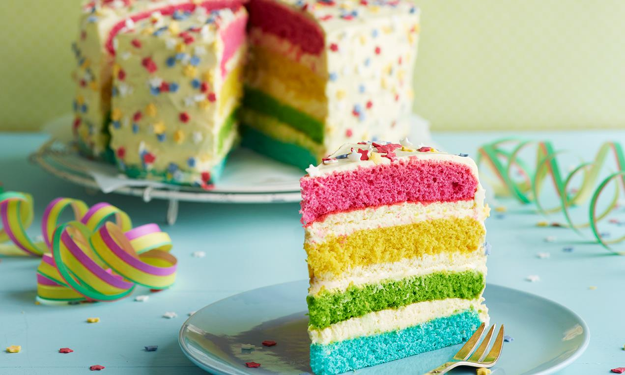 dr oetker rainbow cake pride